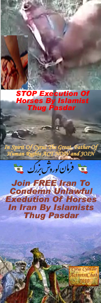 Facebook Group: Join FREE Iran To Condemn Unlawful Execution Of Horses In Iran By Islamists